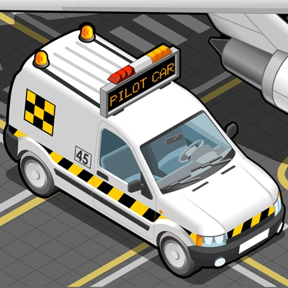 Airport Vehicles 3D Vector