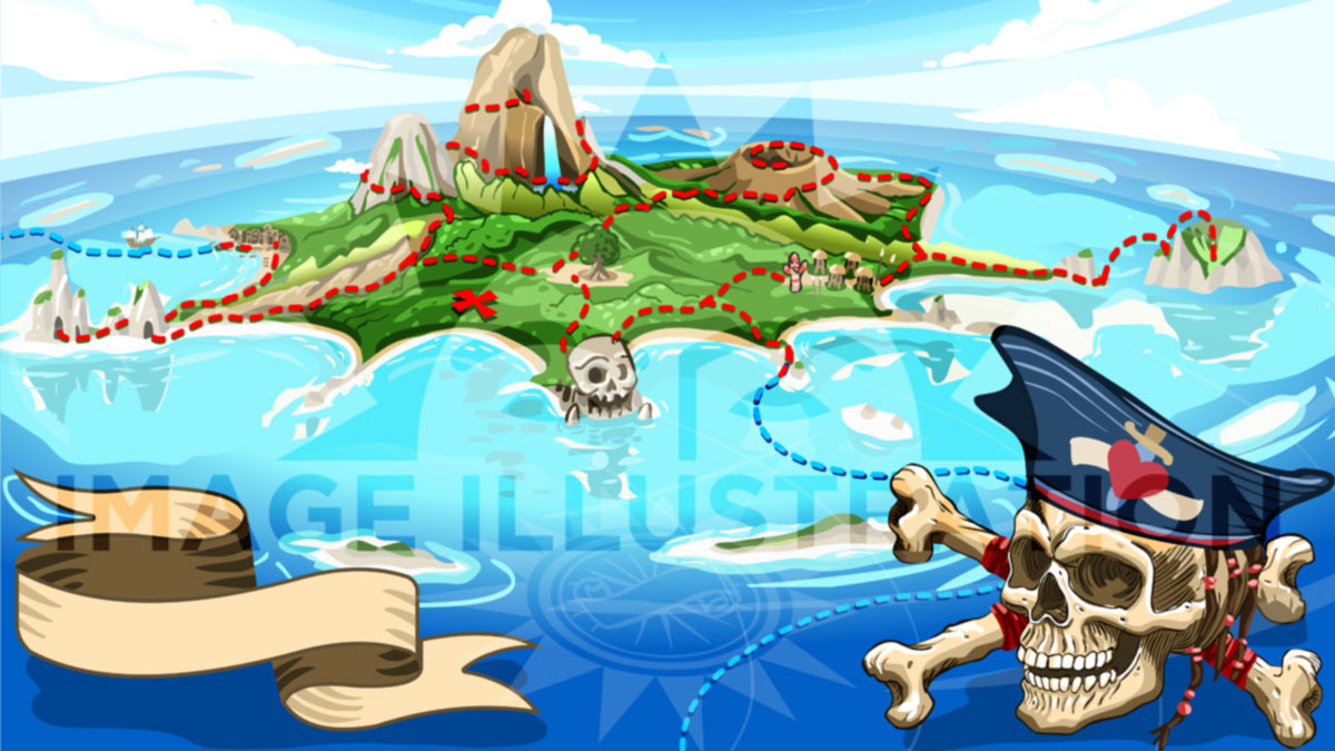 Illustration of neverland island a new adventure for aurielaki