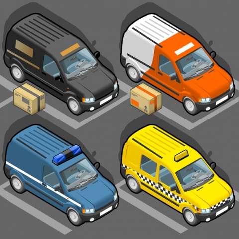 Delivery Van 3D Vehicles