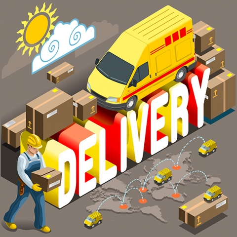 Delivery 3D Vehicles Set