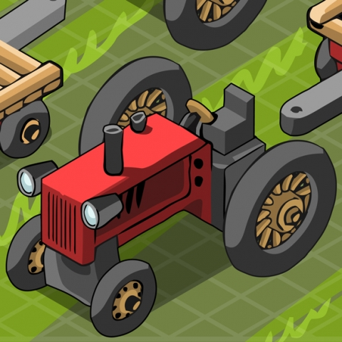 Farm Vehicles 3D Vector
