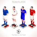 Isometric Sports People 3D