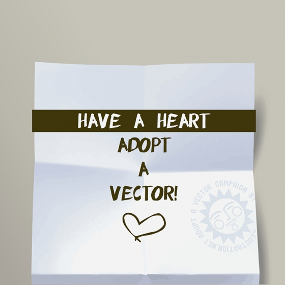 Post-It: Have a Heart (Adopt a Vector Campaign)