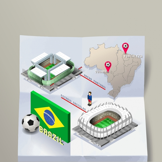 Get into Illustration Image World – Play Soccer in Brazil