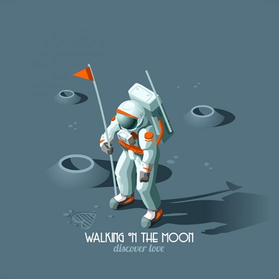 Isometric Moonwalking Astronaut