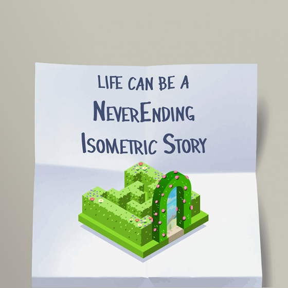 Post-It: Isometric NeverEnding Story