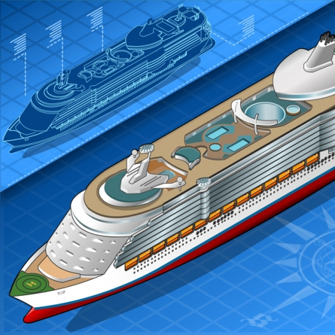 Ocean Liner Vehicles 3D