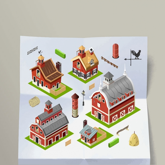 Working in an Old Isometric American Farm