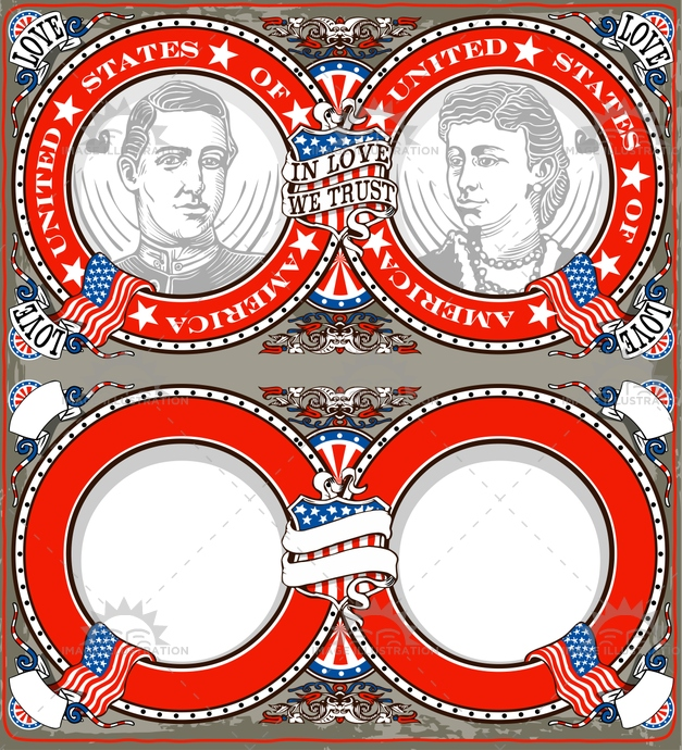 america, american, banner, blue, coatofarm, couple, decoration, ephemera, flag, freehand, invitation, invite, logo, old, party, patriot, placecard, placeholder, red, retro, romantic, set, star, stripe, tattoo, typography, victorian, vintage, wedding