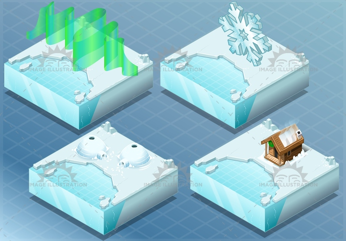 antarctica, arctic, aurora, background, bay, borealis, climate, cold, collection, flack, frost, glacier, greenland, house, ice, igloo, isolated, isometric, land, landscape, nature, north, permafrost, pole, sauna, sea, snow, town, warming, water