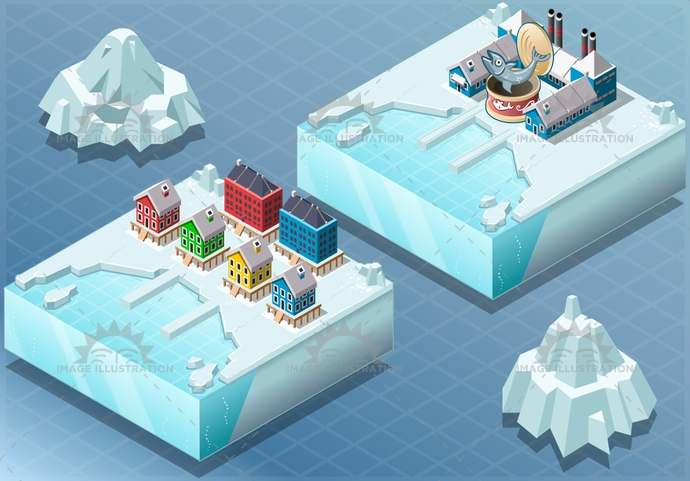 antarctica, arctic, background, bay, can, climate, cold, collection, fish, frost, glacier, greenland, house, ice, industry, isolated, isometric, land, landscape, north, palafitte, permafrost, pole, sea, town, water