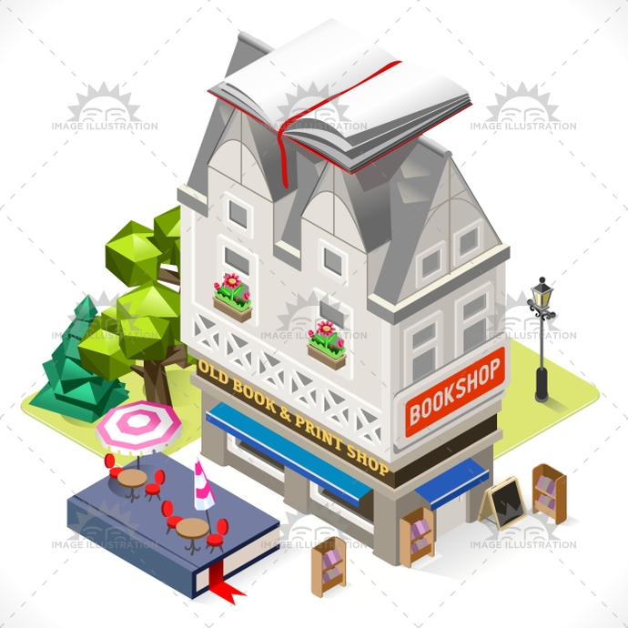 3d, antiquarian, app, book, boutique, building, business, cartoon, city, commerce, commercial, culture, facade, french, goods, illustration, infographic, isometric, library, lowpoly, map, market, retail, shop, store, stylish, template, town, vector, web