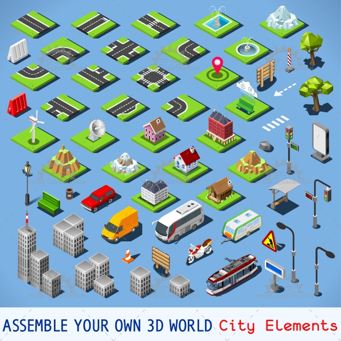 3d, app, architecture, assemble, billboard, bright, build, building, car, city, collection, color, complete, development, district, fabric, flat, game, icon, idea, illustration, infographic, isolated, isometric, landmark, map, modular, new, palette, pattern, place, poly, project, road, set, settlement, street, stylish, template, tested, tiles, toolkit, traffic, truck, urban, vector, vivid, web, world