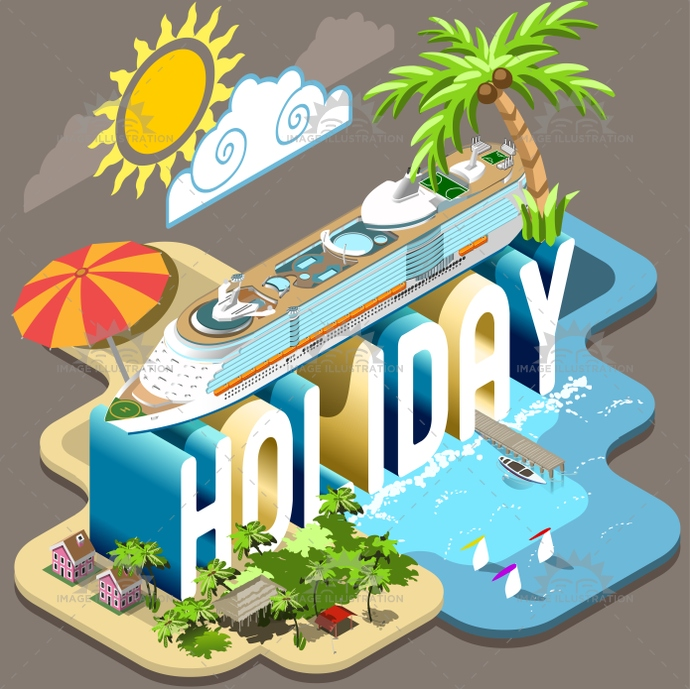 3d, beach, collection, concept, cruise, dream, experience, flat, holiday, illustration, industry, infographic, isometric, life, ocean, pier, resort, school, seashore, ship, summer, sunbathing, template, tourism, tourist, travel, vacation, vector, village, web