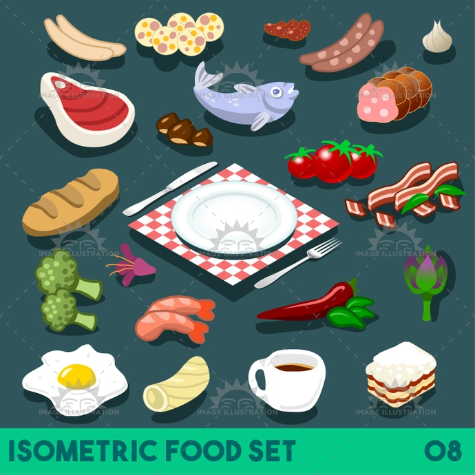3d, app, bacon, bbq, bistro, bread, bright, broccoli, cheese, coffee, collection, complete, dessert, diet, dinner, dish, egg, element, fast, fastfood, fish, flat, food, full, gorgeous, icon, illustration, infographic, ingredient, isolated, isometric, junk, meal, meat, menu, mockup, palette, plate, recipe, restaurant, set, stylish, template, tomato, vector, vegetables, web
