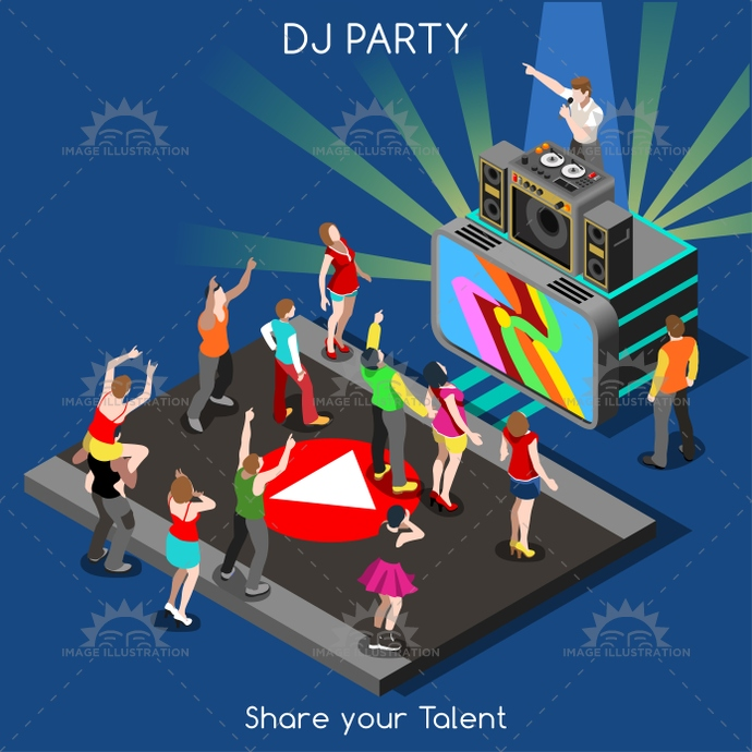 3d, advertisement, app, cartoon, character, competitors, concept, contest, crazy, dance, dancing, design, disco, disk, dj, electronic, entertainment, fancy, floor, girl, illustration, indie, infographic, isometric, jockey, late, man, music, new, night, party, people, performance, plays, professional, reality, set, share, show, star, stylish, talent, techno, template, tube, vector, web, woman, year, young