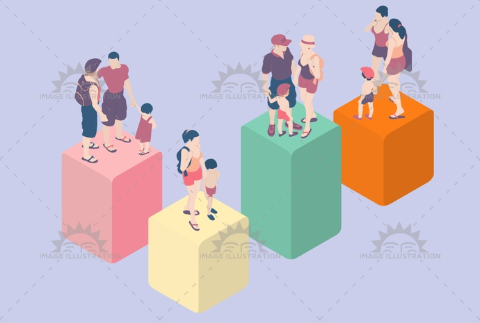 advertising, bar, care, child, children, demographic, demography, family, flat, gay, graph, group, homosexual, illustration, infographic, isometric, kid, lesbian, lgbt, man, parent, parental, parents, pastel, people, rights, single, statistic, vector, woman