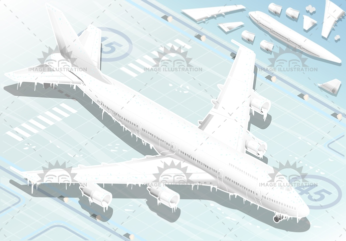 aircraft, airplane, airport, boeing, cold, damage, danger, de-icing, deicing, delayed, disaster, engine, frost, frozen, ice, isometric, jet, machine, plane, runway, season, small, snow, storm, transport, travel, undercarriage, weather, wings, winter