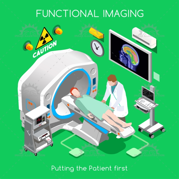 3d, activity, banner, bed, body, brain, cancer, care, cartoon, character, clinical, clinician, concept, diagnostic, disease, doctor, exposure, facility, flat, function, functional, health, healthcare, Hospital, illustration, imaging, infographics, isometric, male, medicine, nuclear, organs, patient, positron, radioactive, radiologist, research, room, shape, stylish, template, test, tissues, tomography, tracer, trial, vector, web, Working