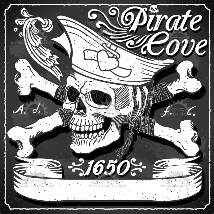 adventure, background, black, blackboard, buccaneer, caribbean, child, cocked hat, cove, crossbones, fantasy, fear, flag, gadget, game, illustration, jolly, murals, party, pirate, placeholder, roger, skull, sneer, tale, time, tortuga, toy, vector, wild
