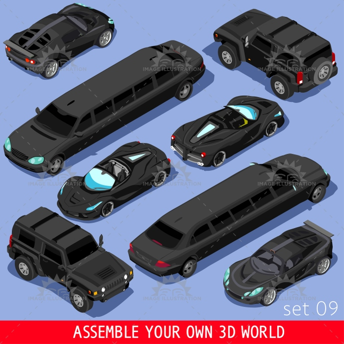 3d, alarm, app, auto, bright, cabrio, car, cargo, carrier, cars, city, class, collection, convertible, element, flat, game, high, icon, illustration, industry, infographic, isolated, isometric, limousine, luxury, mechanic, modular, palette, part, racing, road, set, shop, show, sportscar, street, stylish, suv, template, tile, traffic, transport, truck, van, vector, vehicle, video, web