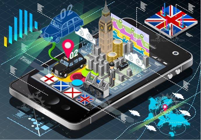 application, bigben, britain, british, building, business, cab, city, england, europe, famous, infographic, internet, Ireland, isolated, isometric, landmark, london, mobile, Monument, Scotland, symbol, tablet, Taxi, tourism, travel, unionjack, weather, worldmap