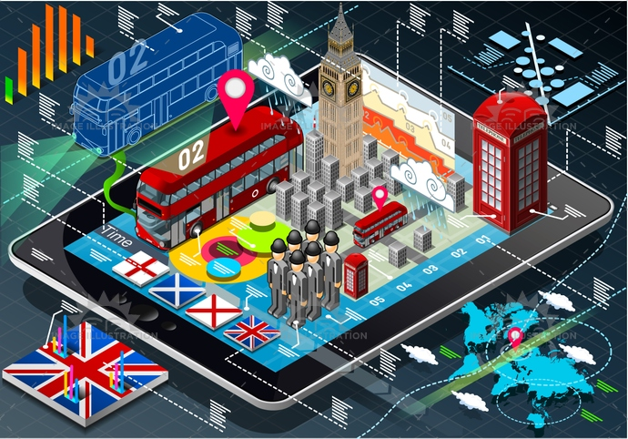 application, bigben, britain, british, building, bus, business, cab, city, england, europe, famous, infographic, internet, Ireland, isolated, isometric, landmark, london, mobile, Monument, Scotland, symbol, tablet, telephone, tourism, travel, unionjack, weather