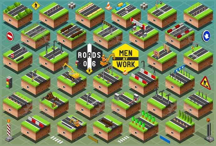 Men at Work Urban Isometric
