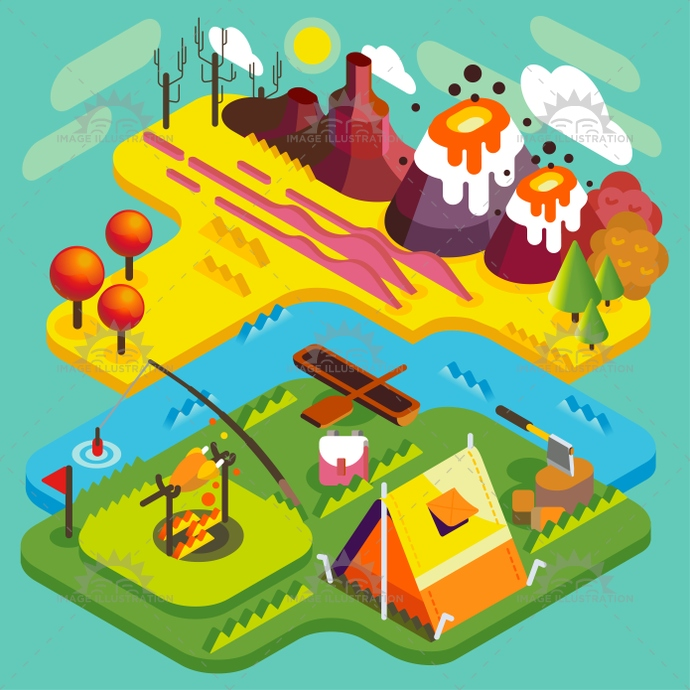 3d, activities, adventure, american, app, autumn, background, banner, boat, bonfire, bright, camp, campfire, camping, cartoon, colors, desert, design, equipment, fire, fishing, flat, freedom, hiking, icon, illustration, industry, isometric, lake, landscape, mockup, mountain, national, nature, park, picnic, reserve, river, scout, stylish, summer, template, tent, time, tourist, vacation, vector, volcano, water, web