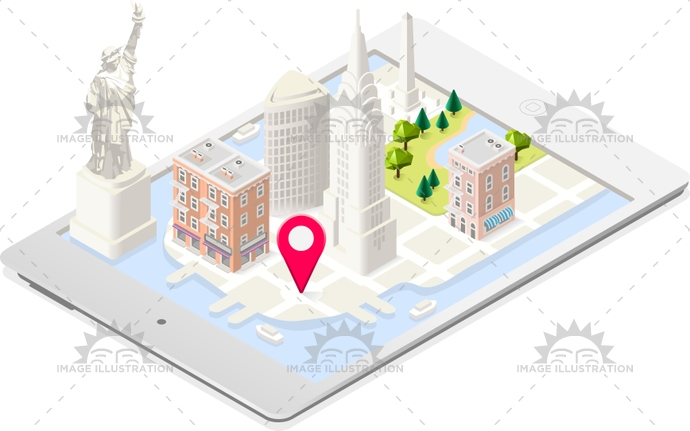 american, app, architecture, background, city, colors, game, illustration, isolated, isometric, landmark, liberty, manhattan, map, Monument, national, new, road, soft, statue, street, stylish, tablet, template, tile, urban, usa, vector, web, york