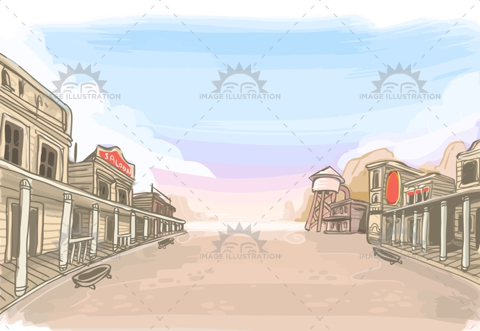 american, background, cartoon, child, cowboy, desert, duel, empty, greeting, illustration, invitation, kids, landscape, old, party, place, placemat, saloon, sand, scene, scenery, store, street, town, usa, vector, west, western, wild, wooden