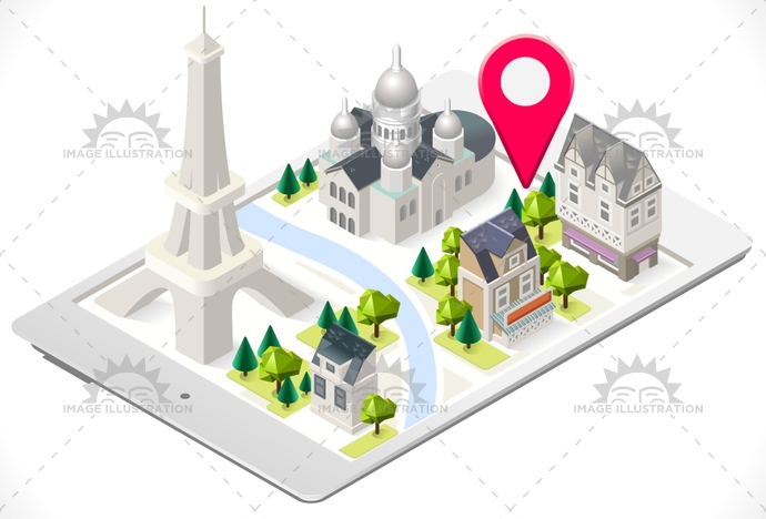 3d, app, attraction, background, buildings, cartoon, coeur, eiffel, france, french, historic, holiday, illustration, isometric, love, lowpoly, map, Monument, paris, sacre, stylish, tablet, template, tour, tourism, tower, town, travel, vector, web