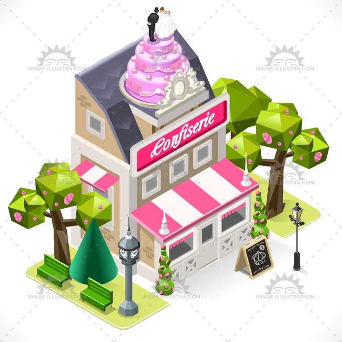 3d, app, bakery, boutique, building, business, cake, cartoon, city, commercial, facade, food, icon, illustration, infographic, isometric, lowpoly, map, pastry, pie, shop, small, store, street, stylish, template, town, vector, web, wedding