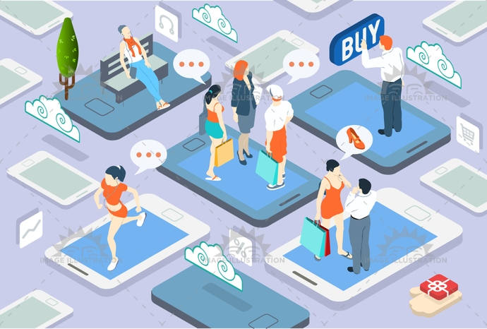 advertising, awareness, business, chat, communication, community, concept, connected, connection, device, free time, illustration, infographic, internet, isometric, marketing, media, network, networking, online, people, shopping, smartphone, social, tablet, technology, vector, virtual, web, work