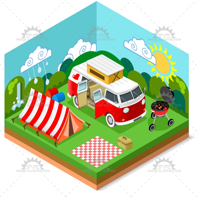 app, baggage, bbq, bus, camp, camper, camping, caravan, flat, hippie, holidays, illustration, infographic, isometric, map, nature, picnic, stylish, summer, template, tent, tourism, trailer, travel, trip, vacation, van, vector, wagon, web