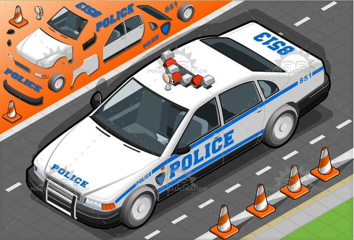 Alertness, america, assistance, control, governmentvehicle, Headlight, industry, isolated, isometric, landvehicle, law, LawEnforcementAndCrime, modeofTransport, newyork, order, police, policeCar, security, securitysystem, siren, Sound, speed, Surveillance, urgency