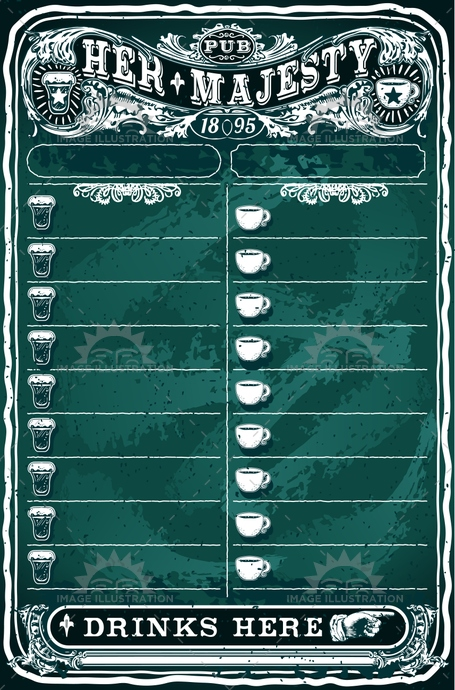 background, banner, bar, baroque, beer, blackboard, board, brochuredrawing, cafe, calligraphy, chalkboard, classic, coffee, cup, decoration, drinks, elements, engraving, floral, food, green, label, menu, old, pub, restaurant, retro, sign, vintage