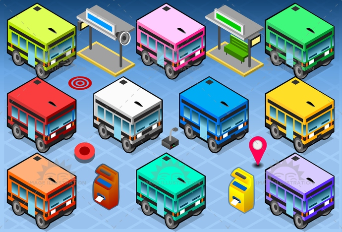 auto, automobile, background, bus, city, coach, driving, holiday, illustration, isolated, isometric, journey, motion, public, road, school, shuttle, sign, stop, tour, tourism, transport, transportation, travel, trip, urban, vector, vehicle