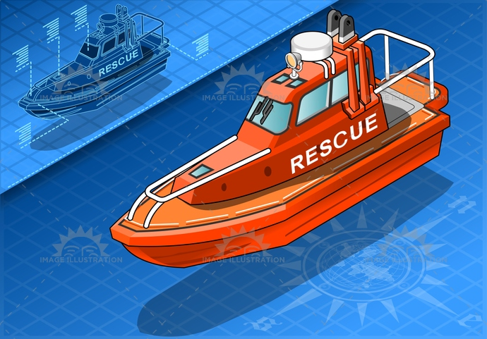blue, boat, emergency, enforcement, engine, equipment, fire, isolated, isometric, law, life, lifeboat, marine, maritime, ocean, orange, port, raft, rescue, safety, sea, security, ship, transportation, travel, vessel, water