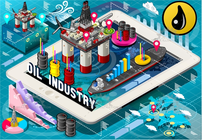 barrel, business, crude, drilling, energy, extraction, farm, fuel, gas, gasoline, illustration, industry, infographic, isometric, mining, offshore, oil, petroleum, pipe, plant, power, production, refinery, rig, sea, set, station, tablet, tank, vector