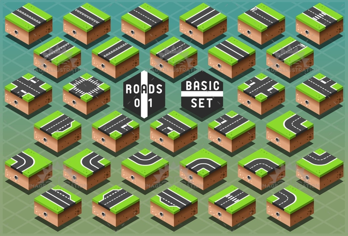 3d, avenue, background, city, design, downtown, drawing, element, graphic, green, grey, highway, icon, information, isometric, map, path, pattern, puzzle, road, route, street, town, travel, urban, view