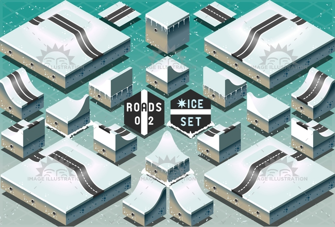 3d, antarctica, arctic, avenue, background, city, climate, climb, cold, descent, design, downhill, freshness, frost, greenland, highway, ice, icon, isometric, level, map, north, path, pattern, pole, road, route, slope, street, town