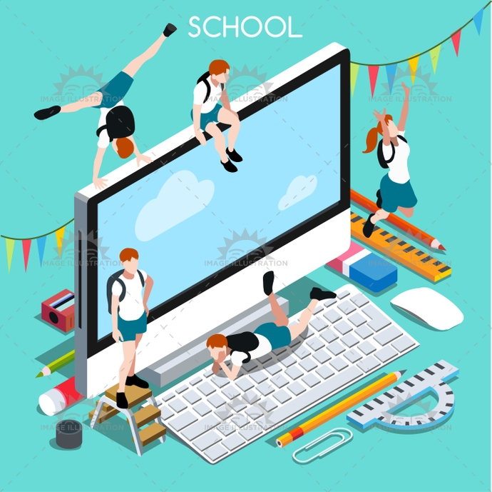 3d, advertising, app, back, backpack, banner, basic, bright, chancellery, child, class, collection, college, computer, design, desktop, device, education, educational, elementary, elements, enjoyment, flat, great, happy, high, illustration, institution, instruction, isometric, junior, middle, ministry, multicolor, palette, paste, pc, pencil, people, personal, private, school, set, students, stylish, teaching, template, vector, vivid, web
