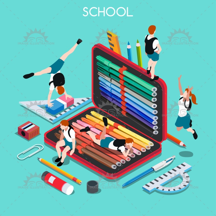 3d, advertising, app, back, backpack, banner, basic, brackets, bright, case, chancellery, child, class, collection, college, design, education, educational, elementary, elements, enjoyment, flat, great, happy, high, illustration, institution, instruction, isometric, junior, middle, ministry, multicolor, palette, paste, pencil, people, private, rubber, school, set, smock, students, stylish, teaching, template, vector, vivid, waxing, web