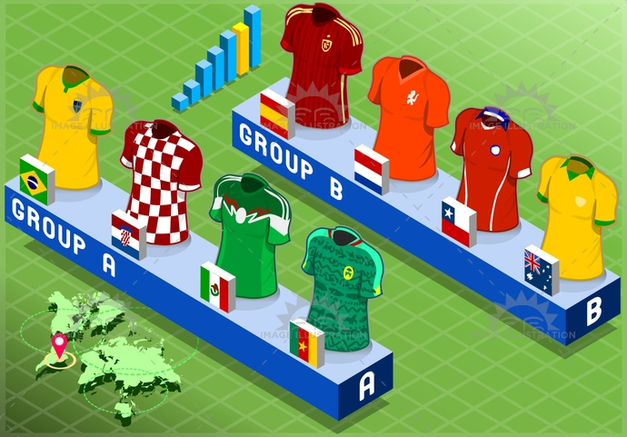 apparel, australia, background, blank, brazil, cameroon, championship, chile, collection, competition, croatia, cup, field, football, game, group, isolated, isometric, mexico, netherlands, shirt, short, soccer, spain, sport, t-shirt, tshirt, uniform, world