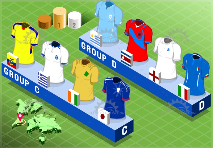 apparel, background, blank, brazil, championship, collection, colombia, competition, costarica, coteivoire, cup, england, field, football, game, greece, group, isolated, isometric, italy, japan, shirt, short, soccer, sport, t-shirt, tshirt, uniform, uruguay, world