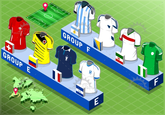 apparel, argentina, background, blank, bosniaherzegovina, brazil, championship, collection, competition, cup, equador, field, football, france, game, group, honduras, iran, isolated, isometric, nigeria, shirt, short, soccer, sport, Switzerland, t-shirt, tshirt, uniform, world