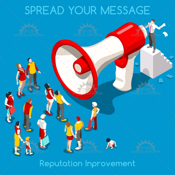 3d, advertising, app, audience, businessman, buyers, campaign, communication, concept, conversion, crowd, flat, funnel, illustration, improvement, interacting, intrusiveness, isometric, marketing, media, megaphone, men, message, natural, new, online, palette, people, poses, promote, promoter, promotion, publicize, push, realistic, reputation, SEO, slogan, social, spread, stylish, target, targeting, technology, template, vector, web