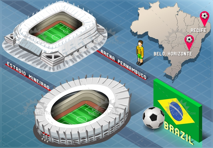 america, arena, background, ball, belohorizonte, blue, brasil, brazil, flag, football, green, icons, infographic, isolated, isometric, map, mineirao, national, pernambuco, player, recife, rio, soccer, south, stadium, tourism, world, yellow
