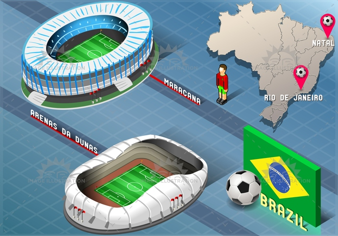 america, arena, background, ball, blue, brasil, brazil, championship, dunas, flag, football, green, icons, infographic, isolated, isometric, janeiro, map, maracana, natal, national, player, rio, soccer, south, stadium, tourism, world, yellow